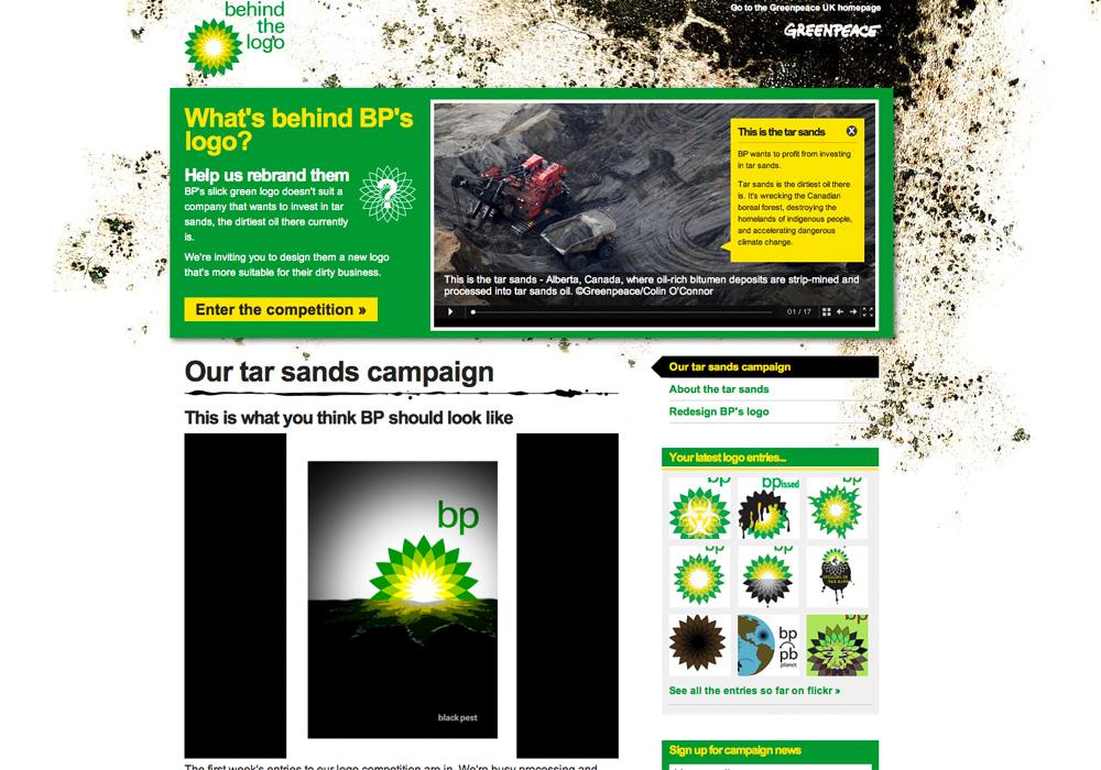 Unser Logovorschlag für BP auf der Greenpeace-Seite