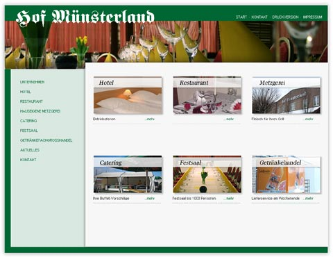 Neue Website Hof Münsterland in Ahlen